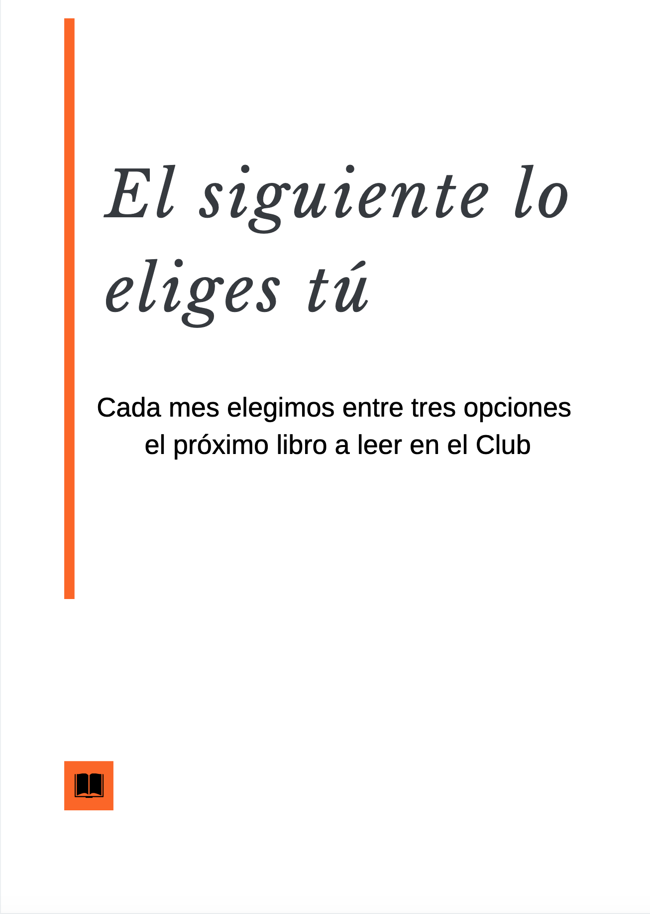 Club de lectura para inconformistas